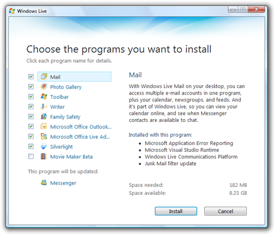 How to use msn 2009 without updating