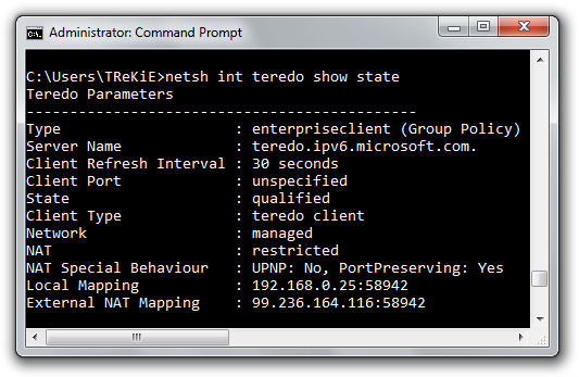 Teredo Enabled on a domain machine