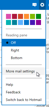 More mail settings