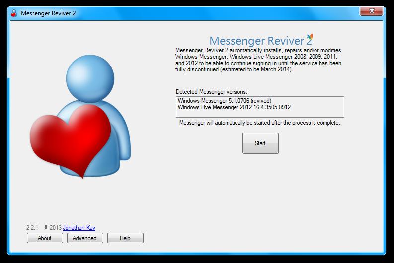Messenger Reviver full screenshot