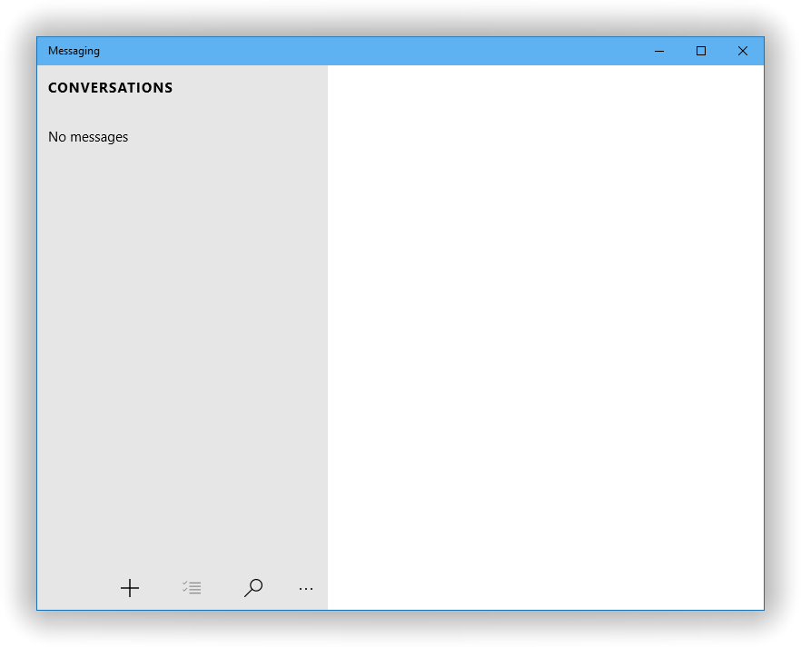 Messaging window blank