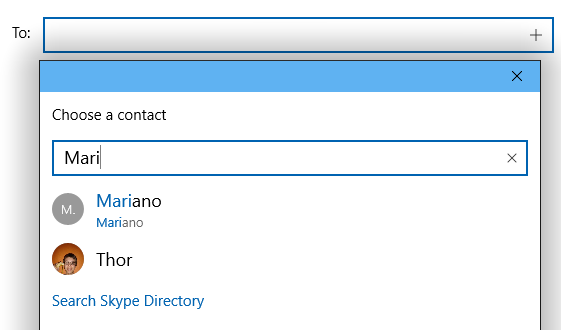 Search Skype Directory