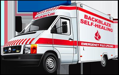 Backblaze self-healing ambulance